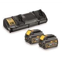 18V XR kétportos töltő +2 db. 18/54V XR FLEXVOLT akkumulátorral