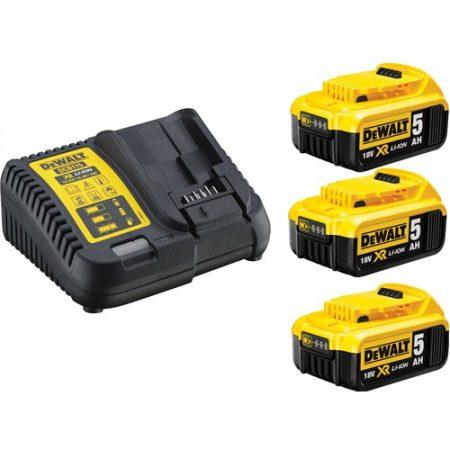 XR 10.8-18V akkumulátor töltő + 3 x 5.0Ah Akku Kit