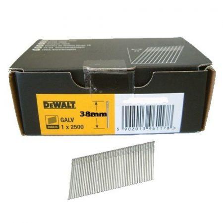 Dewalt 16GA 20 DEG FINISH NAIL 38MM GALV 2.5M