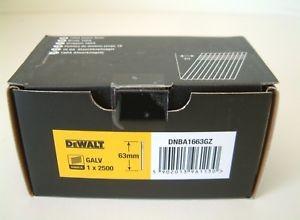 Dewalt 16GA 20 DEG FINISH NAIL 63MM GALV 2.5M