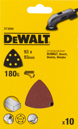 6 lyukú csiszolópapír deltacsiszolóhoz, szemcsefinomság 180 (10db/csom)