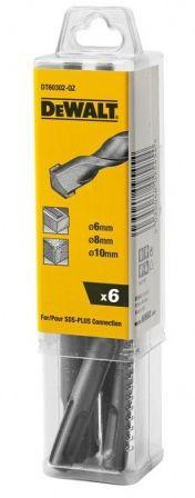 SDS-Plus fúrószárak 160mm, 6db-os készlet (2x6mm, 2x8mm, 2x10mm)